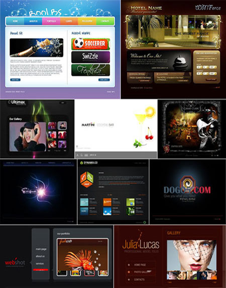 10 Flash Template Website FULL