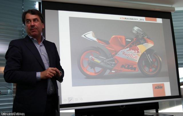 Компания KTM представила новый двигатель и прототип Moto3