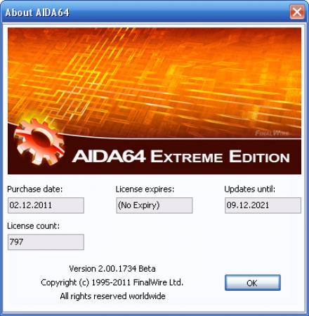 AIDA64 Extreme Edition [ v.2.00.1734 Beta (2011) PC | RePack, НОВАЯ ВЕРСИЯ - НОВАЯ Сот ivandubskoj ]
