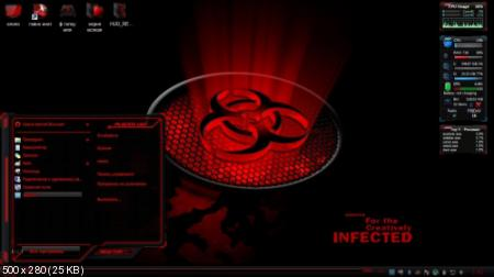 Windows 7 Themes: HUD RED Premium Theme by Mr. Grim (2011/Eng/Rus)
