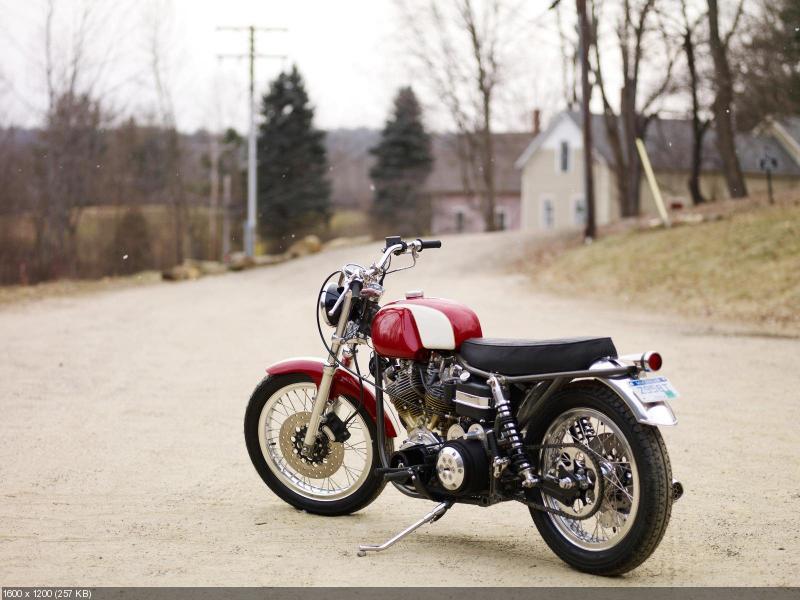 Кастом FX Roadster на базе Harley-Davidson FLH 1970