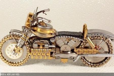 Мотоциклы из старых наручных часов (2012)