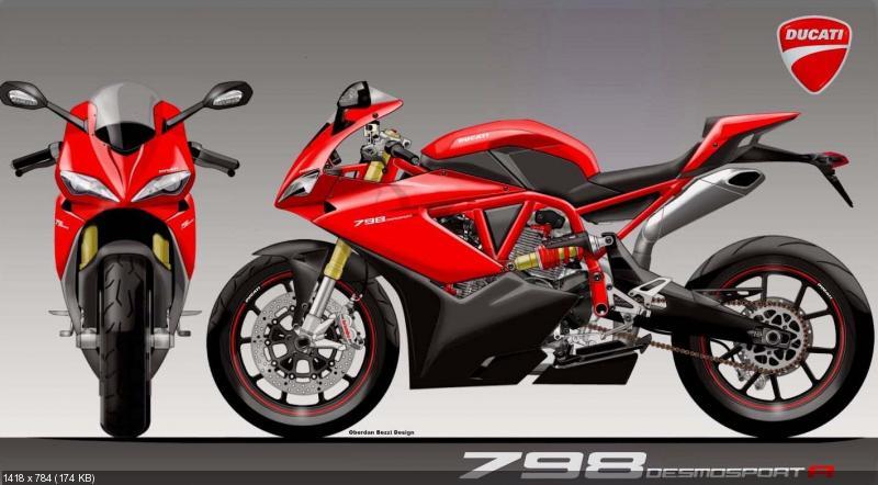 Концепт мотоцикла Ducati 798 Desmosport R