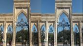 Баку - город ярких огней 3Д Горизонтальная анаморфная